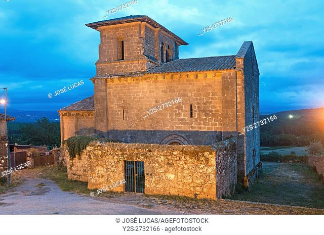 Church of the romanesque monastery of San Miguel-12th century, Eire, Lugo province, Region of Galicia, Spain, Europe