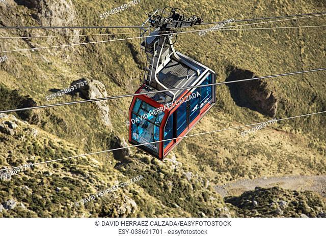 Cable Car in Fuente de, Picos de Europa mountains, Cantabria, Spain