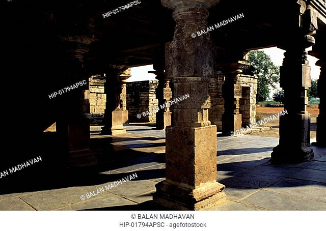 PILLARS OF PAPANASINI TEMPLE, ALAMPUR, ANDHRA PRADESH, INDIA