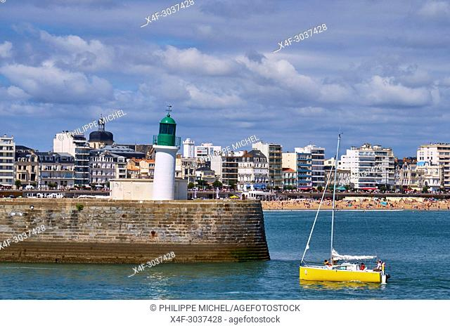 France, Vendée, Les Sables-d'Olonne, the jetty