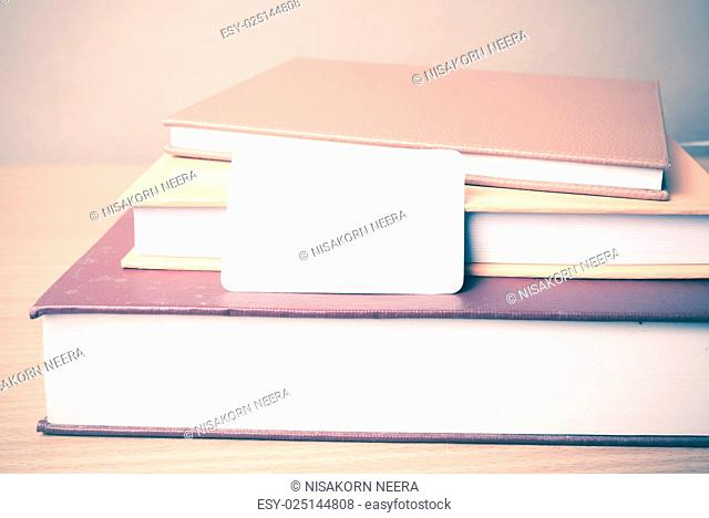 stack of book and business card