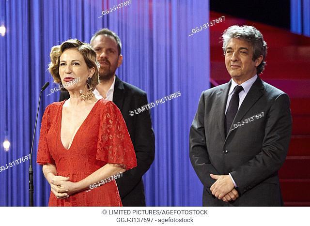 Ricardo Darin, Mercedes Moran, Juan Vera attended Opening Ceremony Gala during the 66th San Sebastian International Film Festival at Kursaal Palace on September...