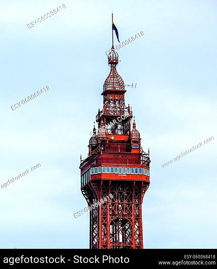 The Blackpool Tower on the Pleasure Beach in Blackpool, Lancashire, UK (HDR)
