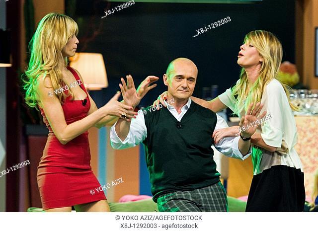 Alessia Marcuzzi, Alfonso Signorini and Elena Santarelli, Telecast 'Kalispera', Canale 5, Milan, Italy, 2010