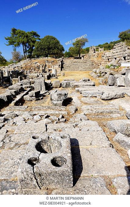 Turkey, Caria, Ancient sanctuary of Labraunda