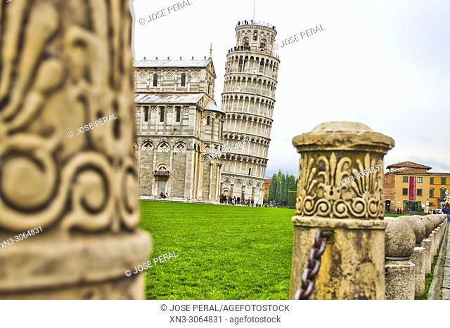 Cathedral with the Leaning Tower of Pisa, Piazza del Duomo, Cathedral Square, Campo dei Miracoli, Square of Miracles, UNESCO world heritage site, Tuscany, Italy