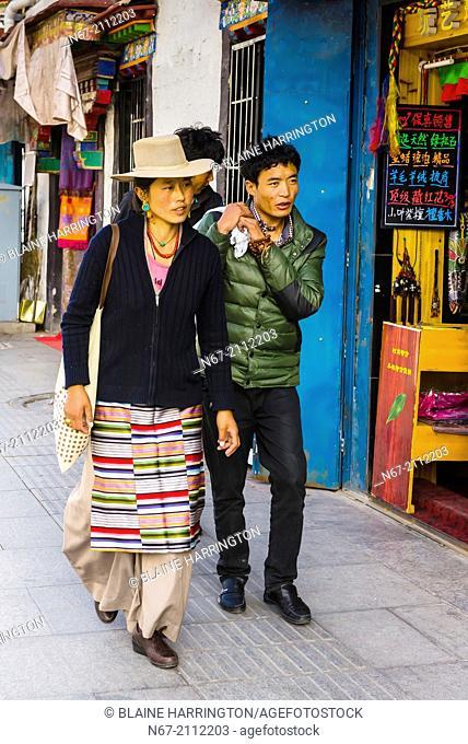 Beijing East Road, Lhasa, Tibet (Xizang), China