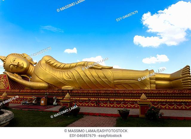November 22, 2016, Vientiane, Laos: The big Buddha