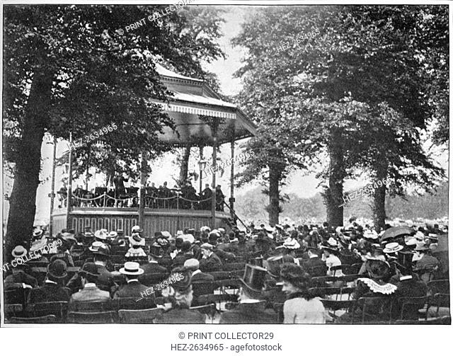 A band in Hyde Park, London, c1901 (1901). Artist: Unknown