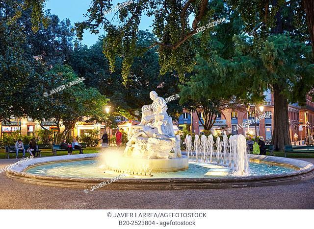 Pierre Goudouli garden. Place Wilson. Toulouse. Haute Garonne. France