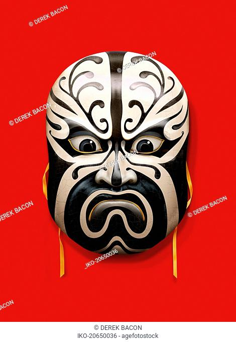 Angry frowning mask