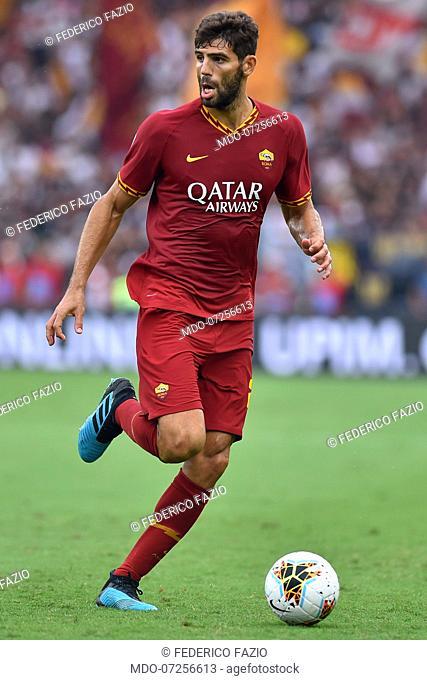 Roma football player Federico Fazio during the match Lazio-Roma in the Olimpic Stadium. Rome (Italy), September 1st, 2019
