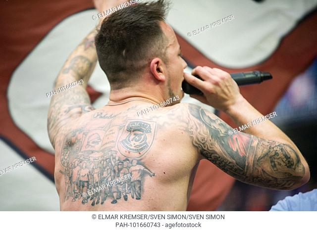 Man Tattoo Football Stock Photos And Images Age Fotostock