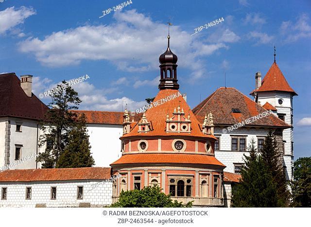 Historic old town of Jindrichuv Hradec, South Bohemia, Czech Republic, Castle