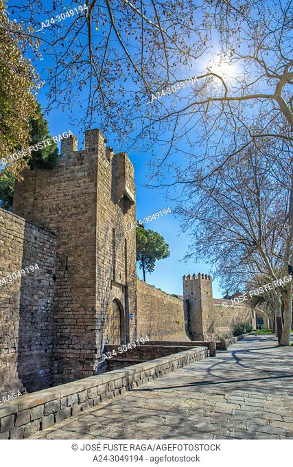Spain, Barcelona City, Old Barcelona Walls, Santa Madrona Gate