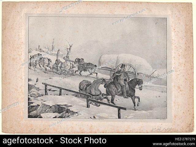 Roulier Montant un Cote, 1823. Creator: Theodore Gericault