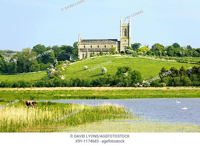 St  Patricks Cathedral, Downpatrick, County Down, Northern Ireland  Seen from Inch Abbey across the River Quoile