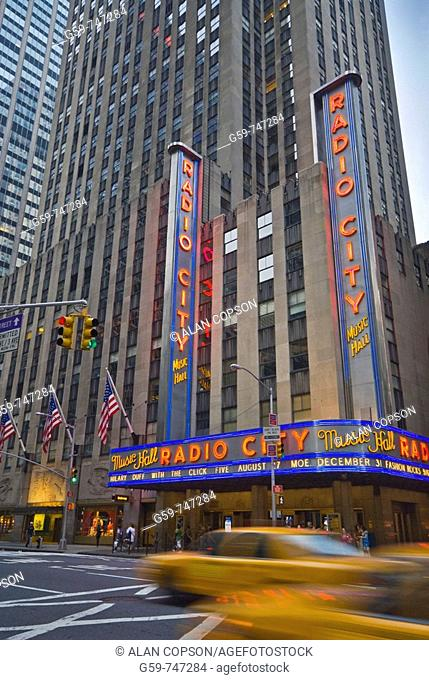 USA New York City Manhattan 6th Avenue and West 50th Street Radio City Music Hall