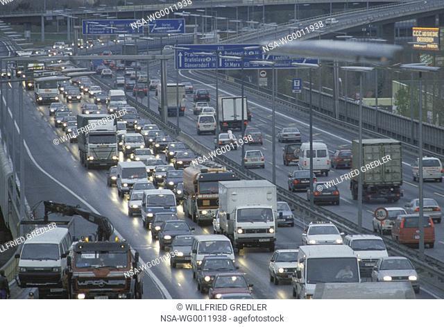 Traffic on the Suedostangente in Vienna