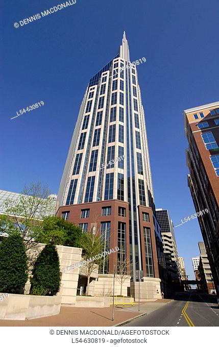 Downtown Skycrapers Buildings High Rise Nashville Tennessee. USA
