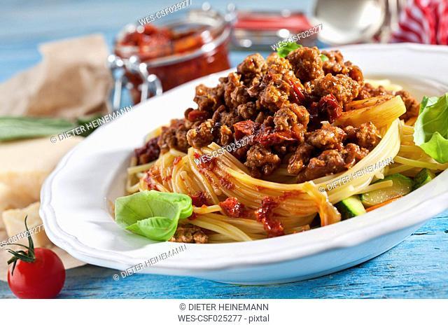 Plate of Spaghetti Bolgnese