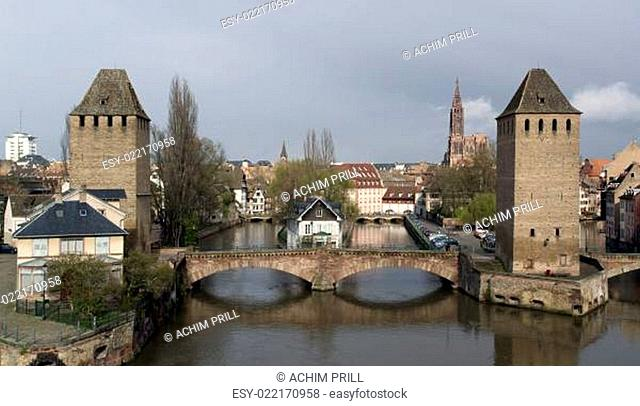 Strasbourg scenery in cloudy ambiance