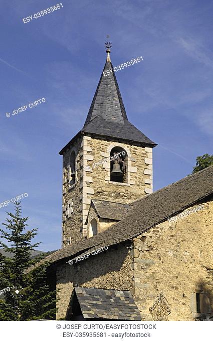 Church of Montcorbau, Aran Valley, Lleida province, pyrenees mountain, Spain