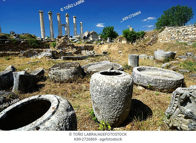 Sculptor's Workshop. Aphrodisias. Ancient Greece. Asia Minor. Turkey