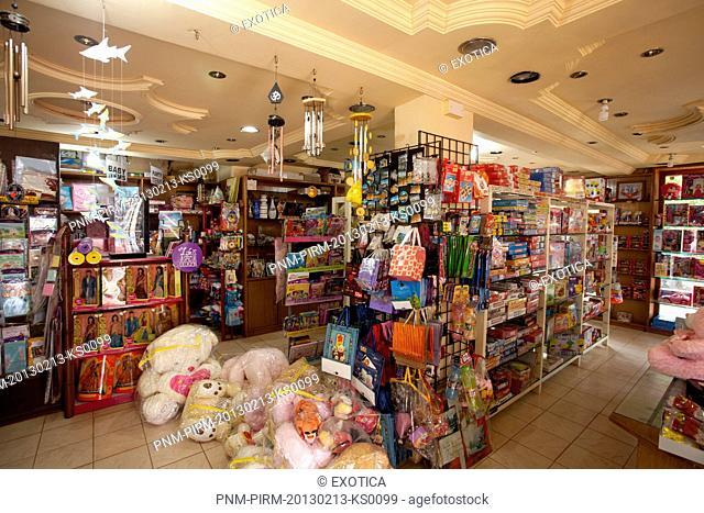 Interiors of a shop, Cedan Cards and Gifts, Calangute, North Goa, Goa, India