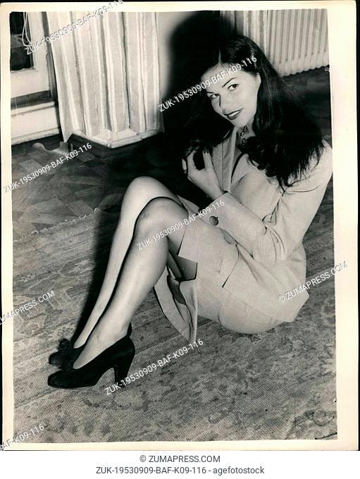 Sep. 09, 1953 - 'Abducted' strip tease dancer in London, Laughs at 'kidnap' stories; Laya Raki, half German, half Japanese night club and strip tease dancer who...