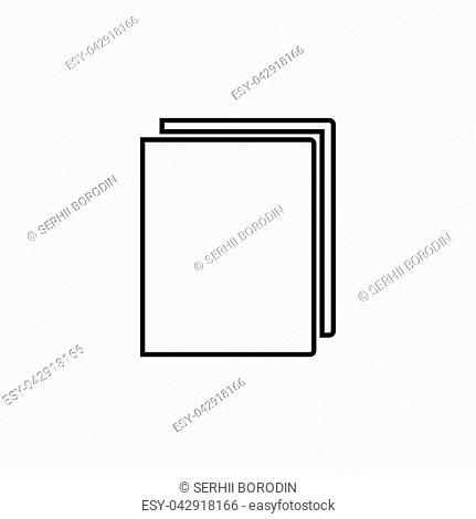 Book it is black color icon