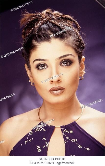 2004, Portrait of Indian film actress Raveena Tandon