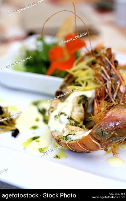 Mauritius Island. Restaurant. Lobster