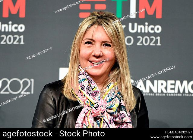 Paola Marchesini director Rai 2 poses for photographers during the photocall of 71st Sanremo Music Festival, Sanremo, ITALY-01-03-2021