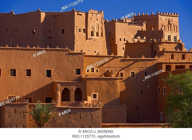 Taourirt Kasbah, built by Pasha Glaoui, Ouarzazate, UNESCO World Heritage Site, Ouarzazate Province, Morocco, North Africa