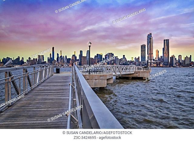 New York City Skyline in Pastels