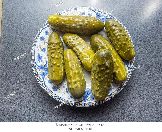 Pickled cucumber is a cucumber that has been pickled in a brine, vinegar, or other solution and left to ferment for a period of time