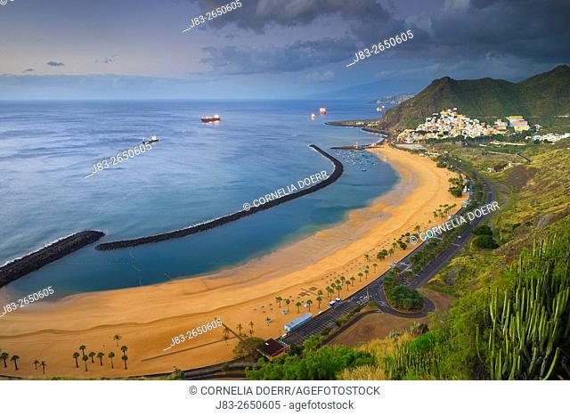 Las Teresitas, Beach, San Andres, Tenerife, Canary Islands, Spain