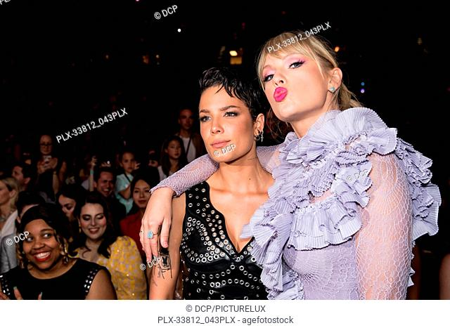 Halsey, Taylor Swift at the 2019 Billboard Music Awards held at MGM Grand Garden Arena on May 1, 2019 in Las Vegas, Nevada