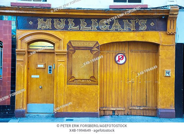 John Mulligan's pub that reportedly has the best Guinness beer in the world Dublin Ireland Europe