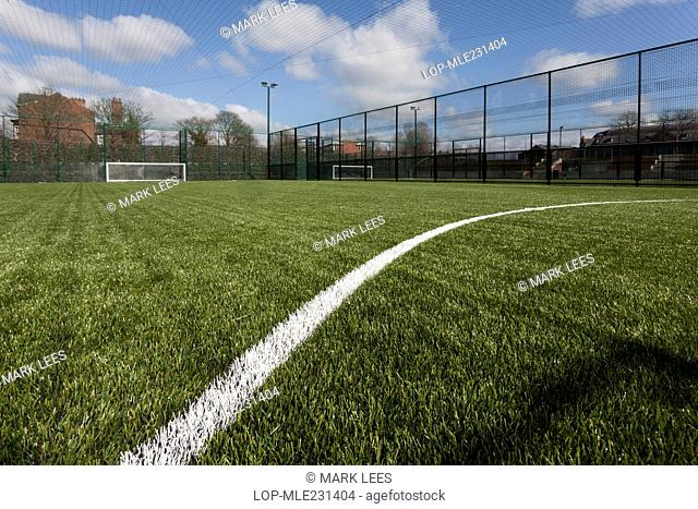 England, Lancashire, Wigan. Artificial sports pitch