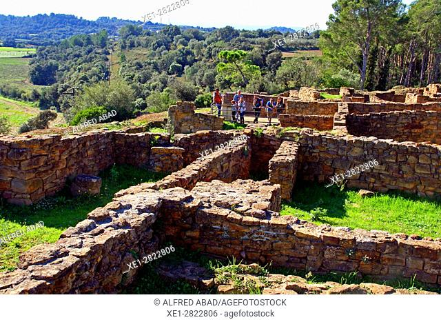 Ruins of the iberian city, Ullastret, Girona, Catalonia, Spain