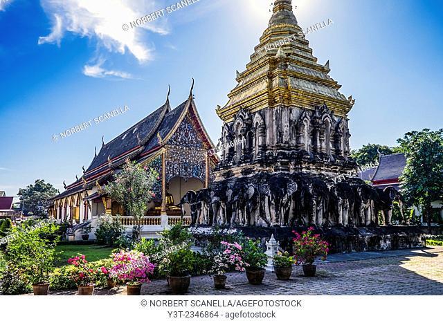 Asia. Thailand, Chiang Mai. Wat Chiang Mun temple