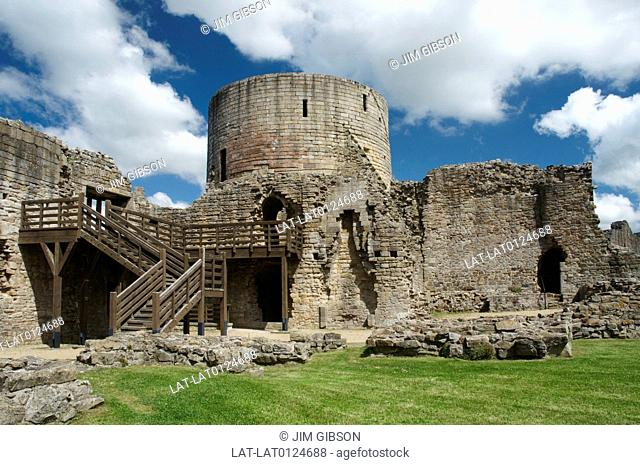 Barnard Castle is a historic castle on the cliff above the river Tees at a vital strategic point at a river crossing, built in the 11th century