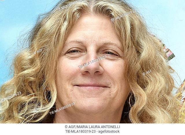 Angela Finocchiaro during 'Scappo a casa' film photocall, Rome, Italy 18/03/2019