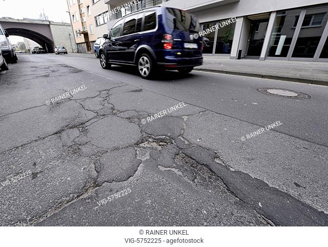 GERMANY : A damaged street in Bonn , 17.03.2017 - Bonn, Northrhine-Westfalia, Germany, 17/03/2017