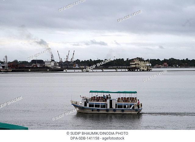 Kochi harbour ; Kochi ; Kerala ; India