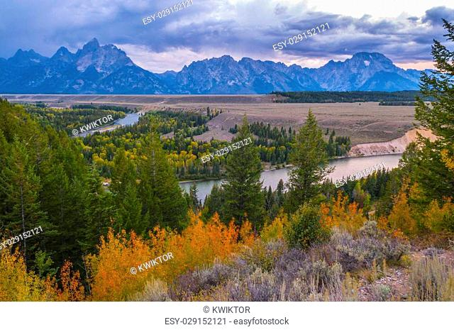 Snake River Overlook at Grand Teton National Park near Jackson, Wyoming