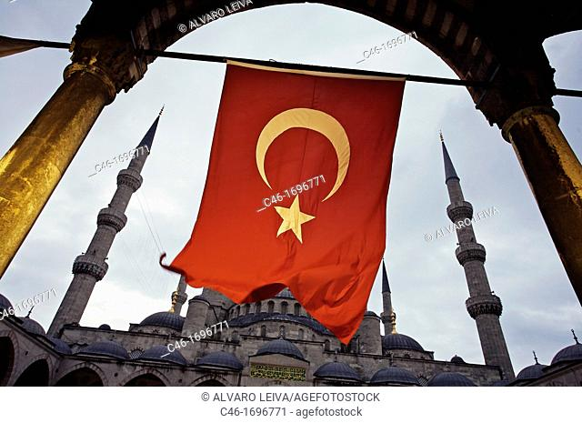 Mosque Sultan Ahmet, Blue Mosque  Istanbul  Turkey