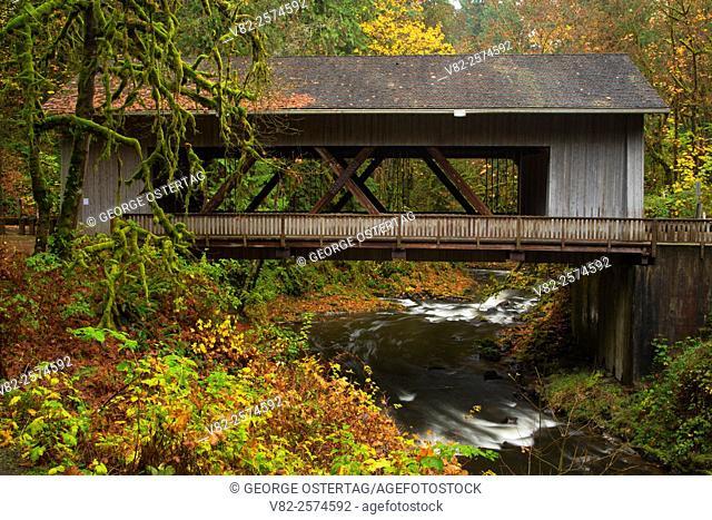 Cedar Creek Covered Bridge, Cedar Creek Grist Mill, Clark County, Washington
